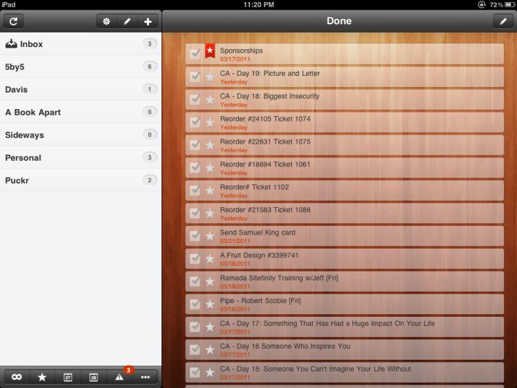 Wunderlist - iPad