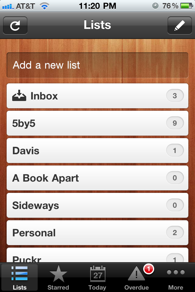 Wunderlist - iPhone